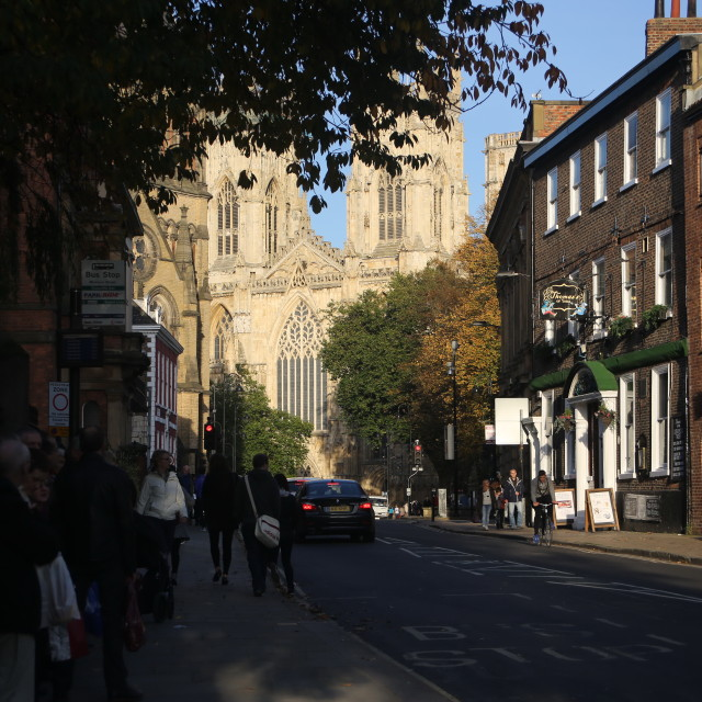 """York Minster and Museum Street."" stock image"