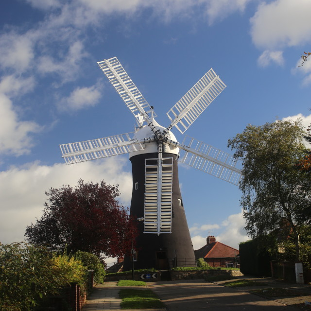 """Holgate Windmill, York."" stock image"