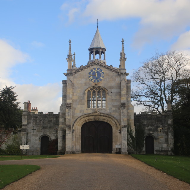 """The Gatehouse and Entrance Gates to Bishopthorpe Palace."" stock image"