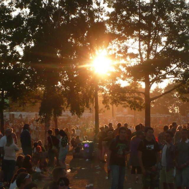"""""""Festival sunset"""" stock image"""