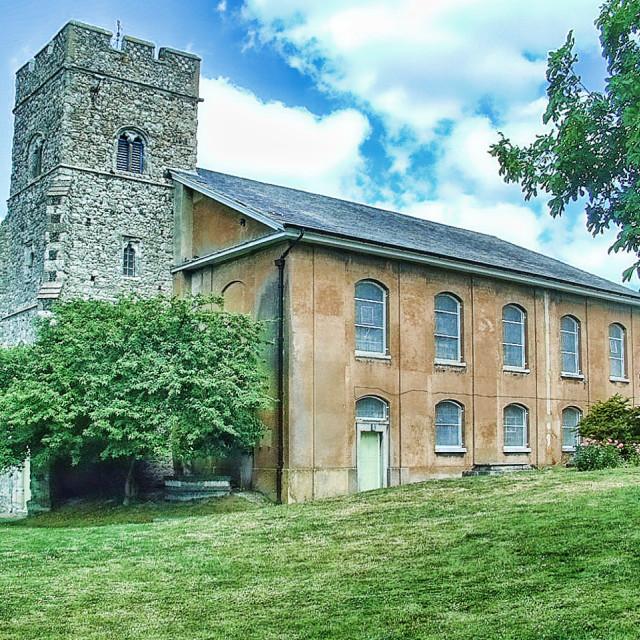 """""""St Margaret's Rochester"""" stock image"""