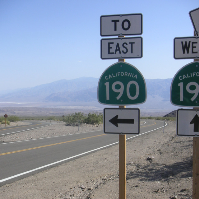 """California road signs"" stock image"