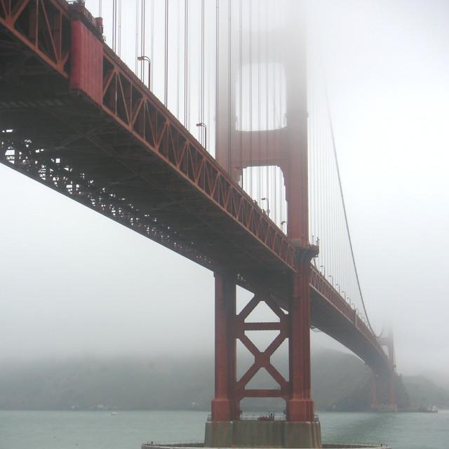 """""""Golden Gate in fog"""" stock image"""