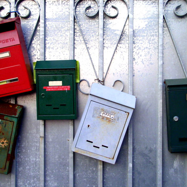 """Letterboxes"" stock image"