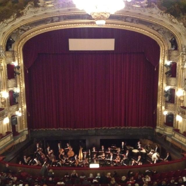 """At the opera"" stock image"