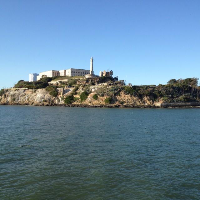 """Alcatraz island"" stock image"