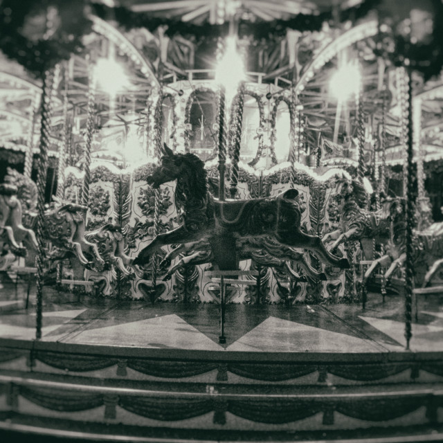 """'Carousel at Ghent'"" stock image"