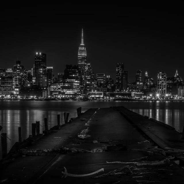 """New York City Skyline Black and White"" stock image"