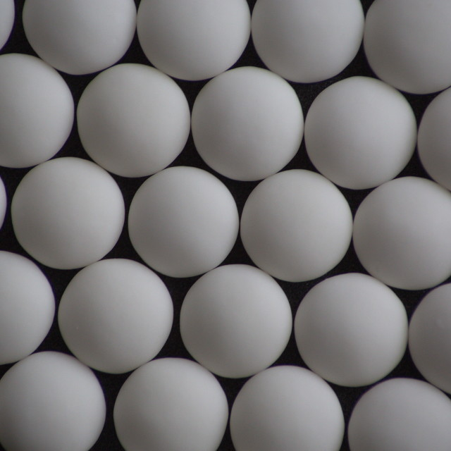 """White Spheres Abstract Still Life (Mint Imperials)"" stock image"