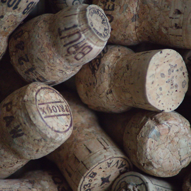 """Champagne Corks"" stock image"