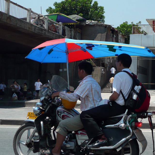 """Motorbiking in China"" stock image"
