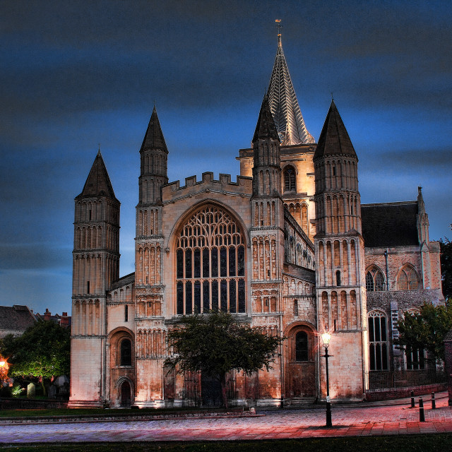 """Rochester Cathedral"" stock image"