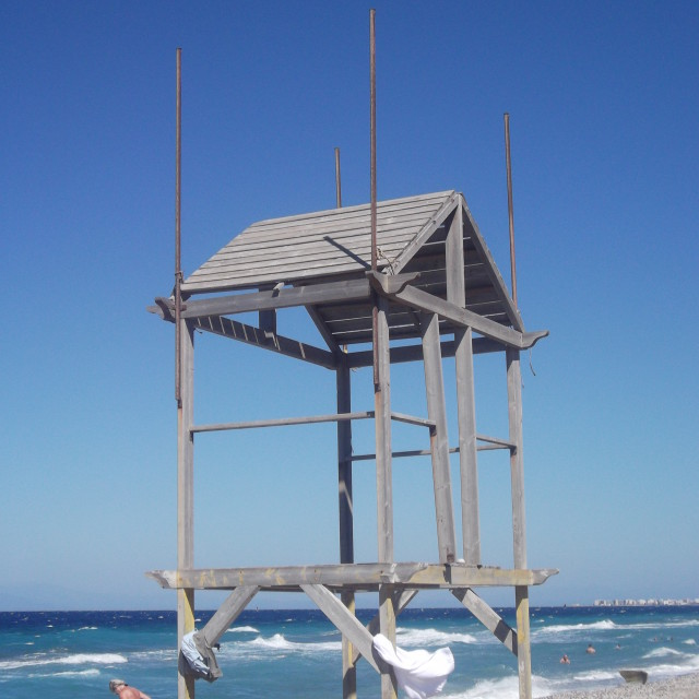 """Lifeguards tower"" stock image"