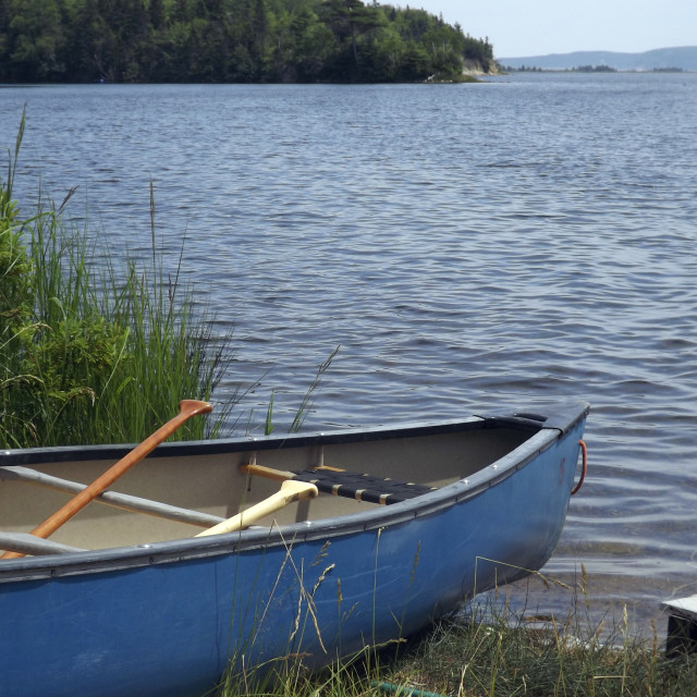 """Canoe on water"" stock image"