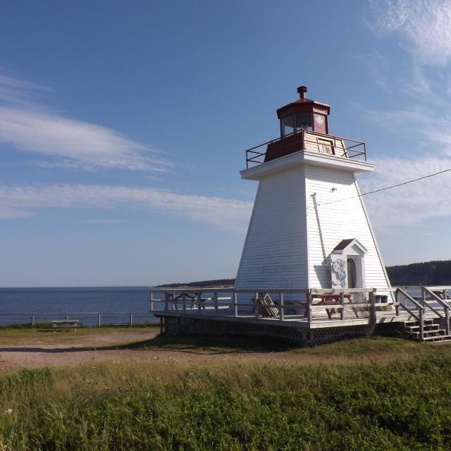 """Canadian lighthouse"" stock image"