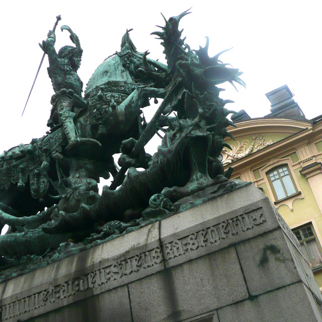 """Stockholm statue"" stock image"