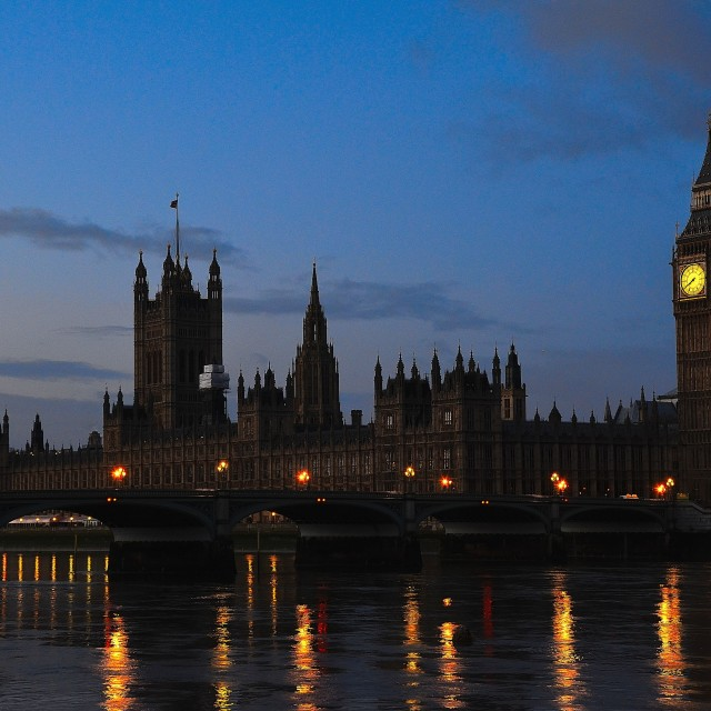 """Westminster & Big Ben at dawn"" stock image"
