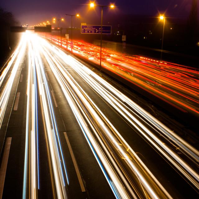 """""""Motorway at Night"""" stock image"""