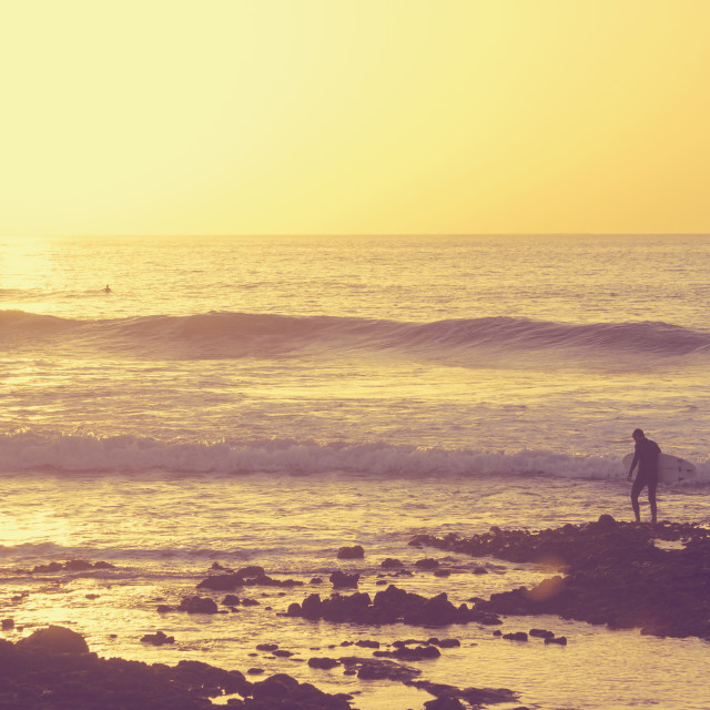 """""""Surfers at summer"""" stock image"""