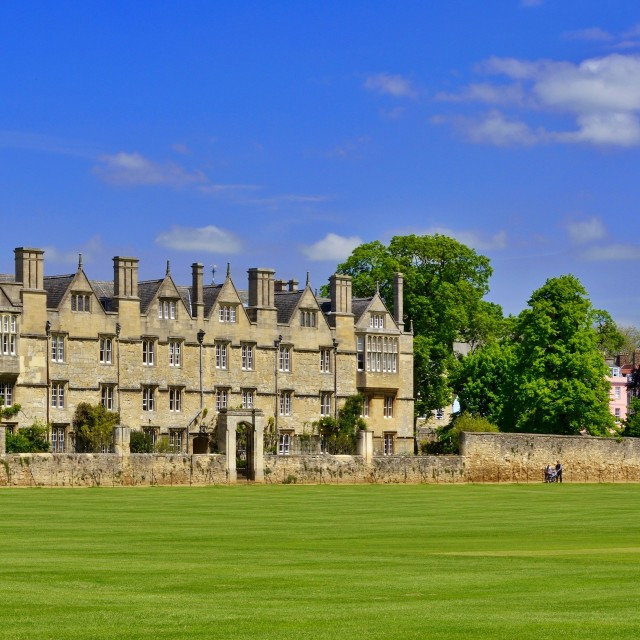 """Christ Church meadow, Oxford"" stock image"