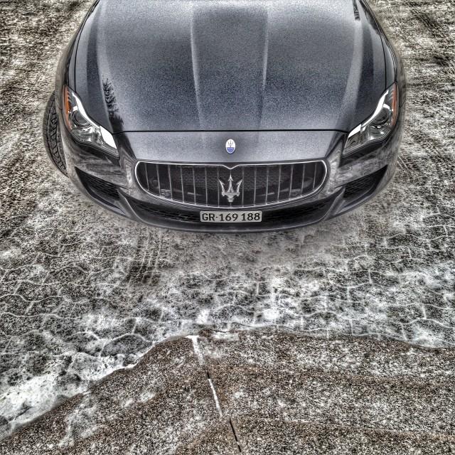 """A Maserati's nose"" stock image"