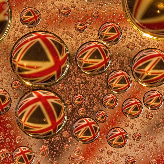 """Union Jack bubbles"" stock image"