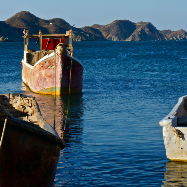 """Taganga fishing boat"" stock image"