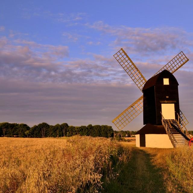 """Pitstone Windmill near Aylesbury, UK"" stock image"