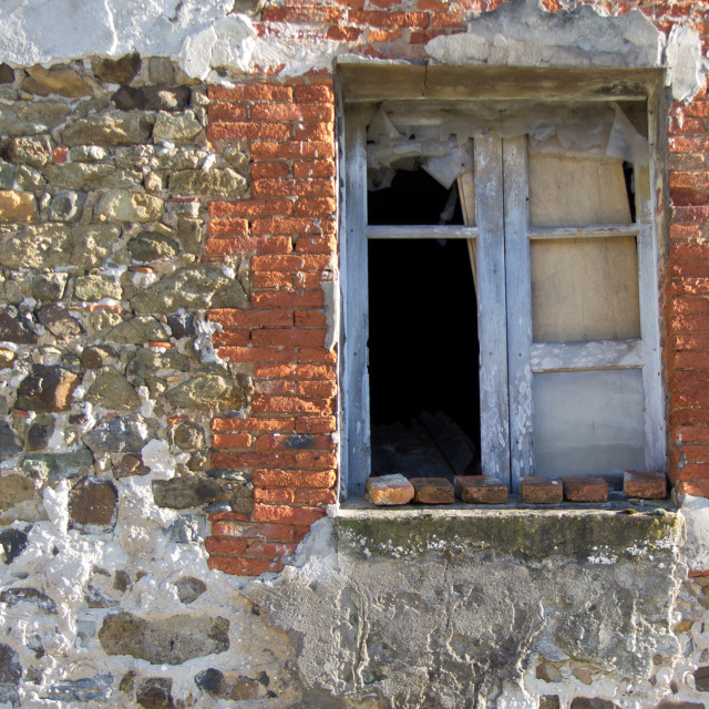 """old wall and window"" stock image"