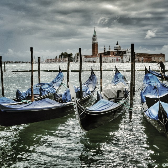 """Gondolas 1"" stock image"