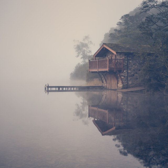 """The Duke Of Portland Boathouse"" stock image"