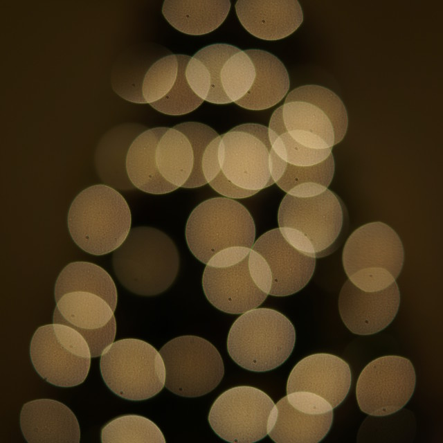 """Christmas Tree in ""Bokeh"" style"" stock image"