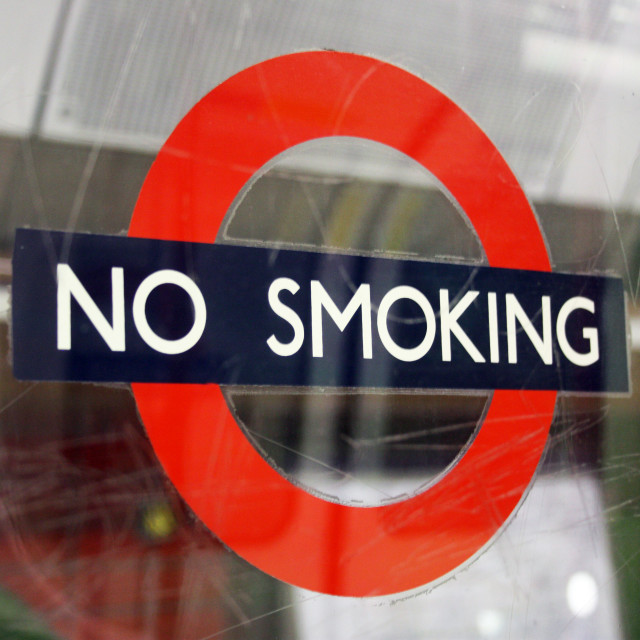 """No Smoking"" stock image"