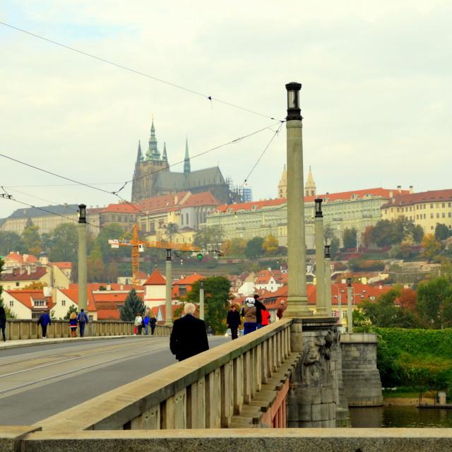 """Prague Bridge"" stock image"
