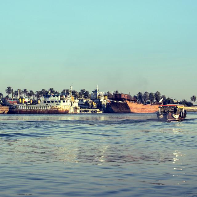 """Arab Sea - Basra, Iraq"" stock image"