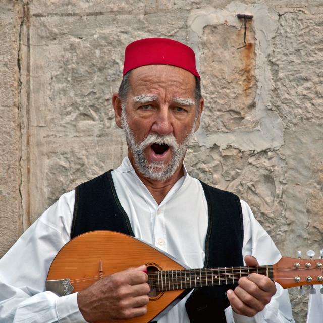 """""""Cilipi singer"""" stock image"""