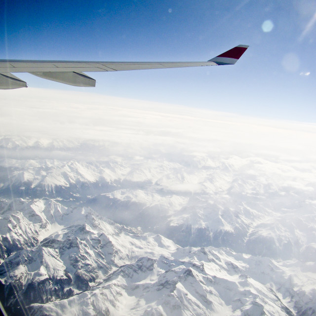 """Over the alps"" stock image"