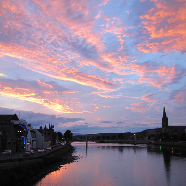 """Sunset Over Inverness"" stock image"