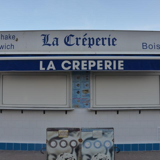 """Crêpe Kiosk"" stock image"