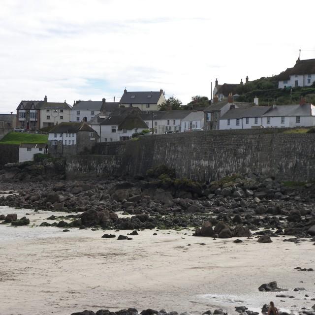 """""""Cornish cottages"""" stock image"""