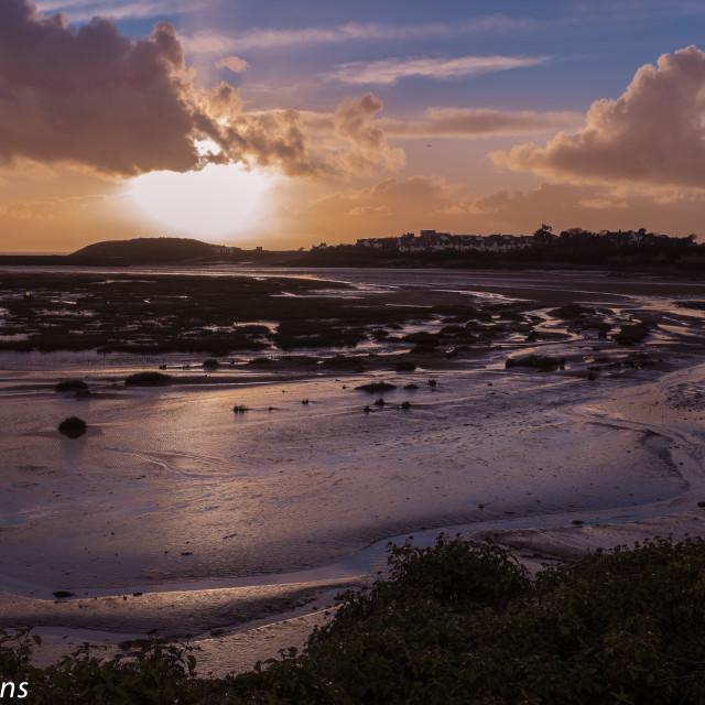 """""""Barry Island dusk"""" stock image"""