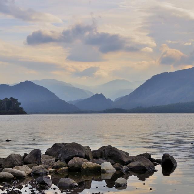 """Derwent Water near Keswick-Lake District/UK"" stock image"