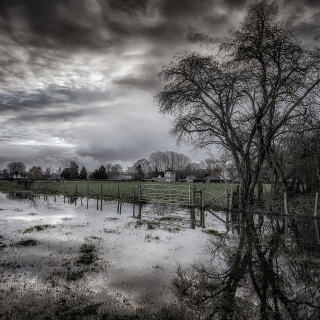 """""""Localised Flooding"""" stock image"""