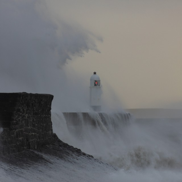 """Wales storm"" stock image"