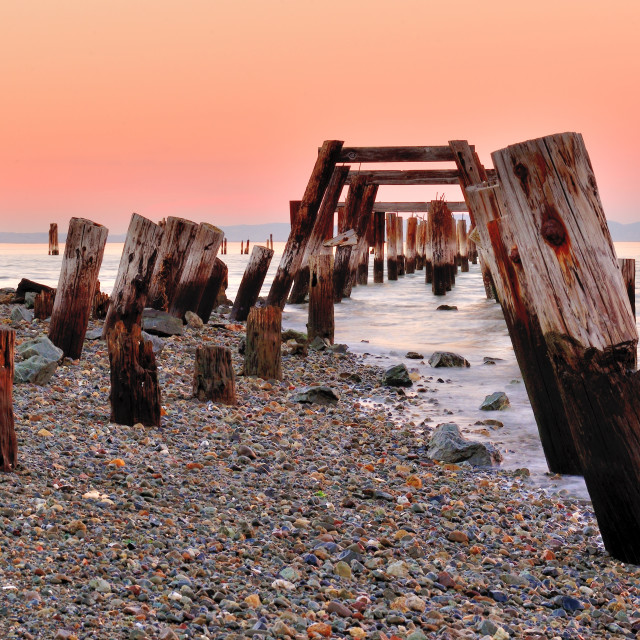 """Old Pier"" stock image"