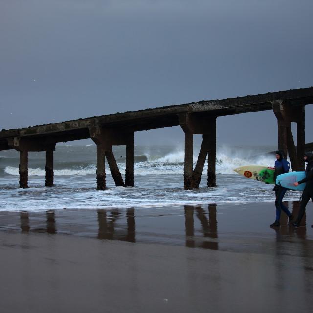 """Surfing Pillars of Hercules"" stock image"