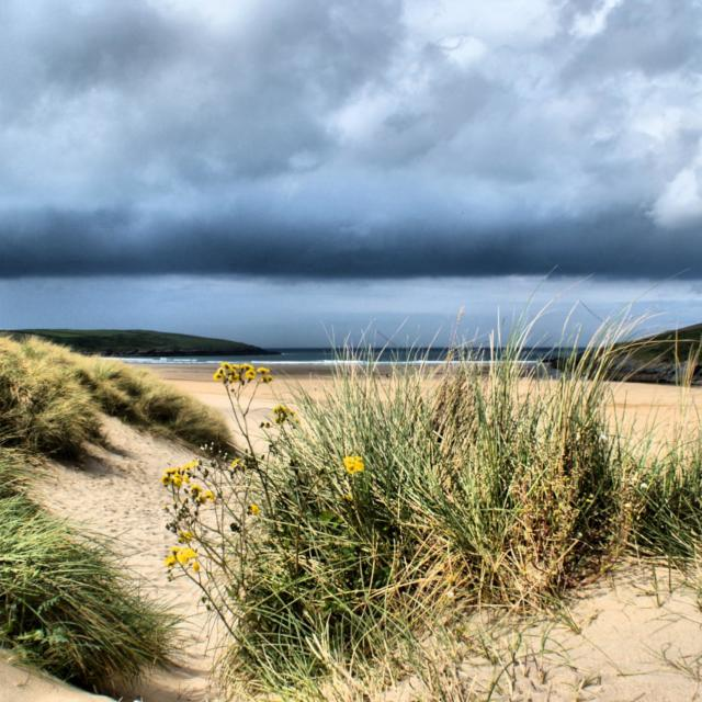 """Dunes at Crantock"" stock image"