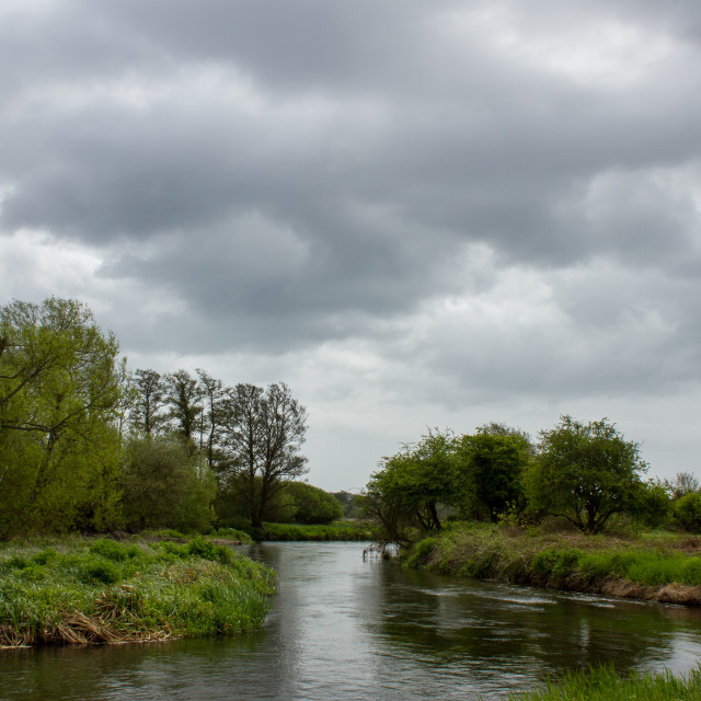 """River Avon near Christchurch"" stock image"