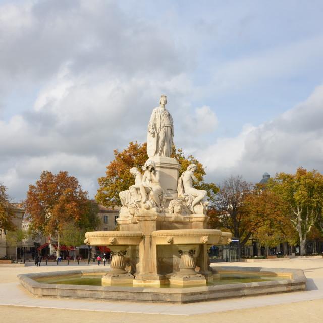 """""""La Fontaine Pradier"""" stock image"""