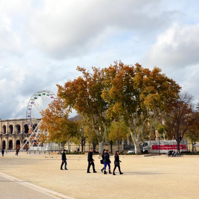 """""""Place des Arènes"""" stock image"""